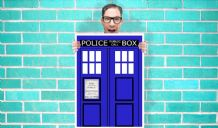 Doctor Who Tardis Art - Wall Art Print Poster   - Kids Children Bedroom Geekery